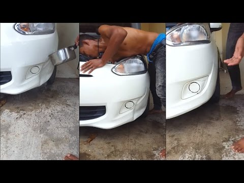 warm water car dent trick
