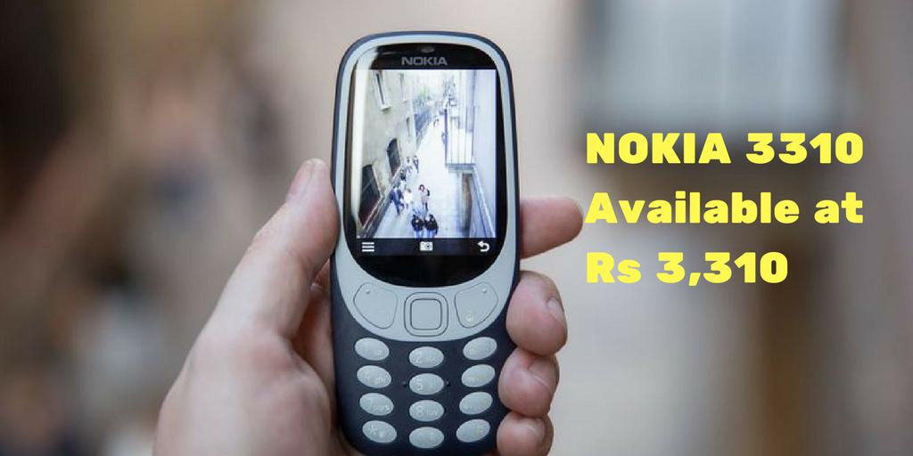 NOKIA 3310Available atRs 3,310